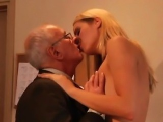 Animated young girls old men Paul rock hard poke Christen