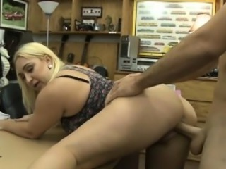 Chubby ass blonde whore pounded at the end of one's tether pawn suppliant to earn extra money