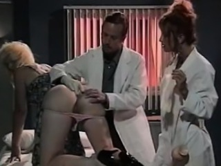 Leena, Asia Carrera, Tom Byron near vintage sex film over