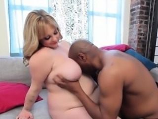 Blonde Chubby Interracial  Natural