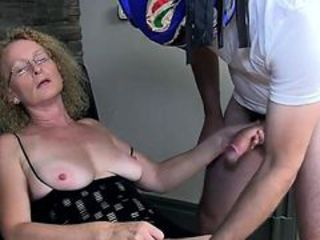 Cougar wife Cathy takes creampie distance from masked guy