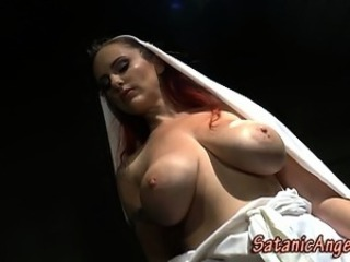 Amazing Big Tits  Natural Nun Redhead