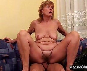 Hairy Mature Redhead Riding Russian