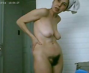 Amateur Bathroom Hairy Mature