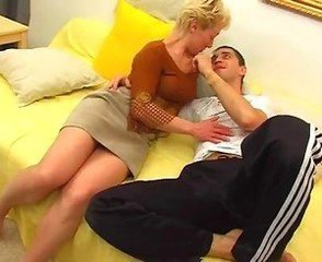 Blonde Mature Mom Old and Young Russian Skirt