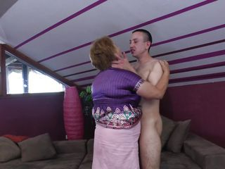 Chubby Kissing Mature Mom Old and Young