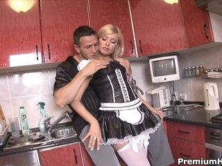 Sexy maid Donna Nervousness getting backdoor banged hard