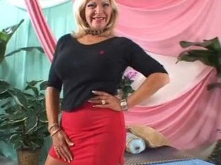 Blonde Mature Pornstar Skirt