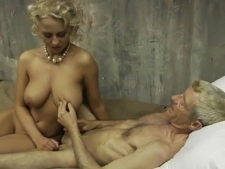 Old Army Man Having it away Young Blonde