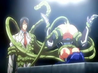 Doctor anime grows out tentacle cocks and fucks big busted hentai chick