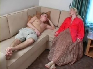 Blonde Family Mature Mom Old and Young