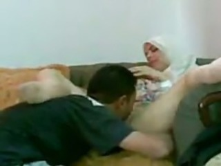 Arab girl is getting her pussy eaten in her office onwards going to bed