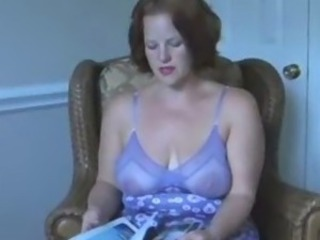 Amateur Big Tits Chubby Lingerie  Mom Natural Redhead