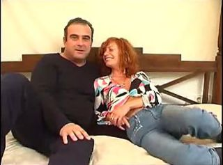 European Jeans Mature  Older Redhead Spanish