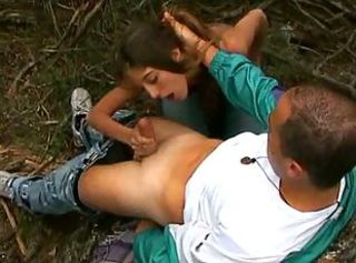 Skinny French Girl Gets Her Outdoor Fuck From Horny Boyfriend