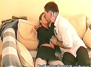A petite matured British housewife takes an irritant fucking