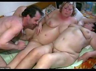 Old chubby Granny has massage from BBW mature Be responsible for