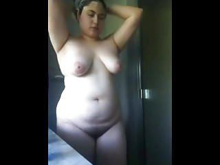 My Obese Plumper Latina Previously to Gf taking a hot shower