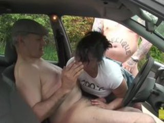 Blowjob Car Doggystyle  Older Outdoor Swingers Threesome Wife