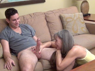 Family Handjob  Mom Old and Young