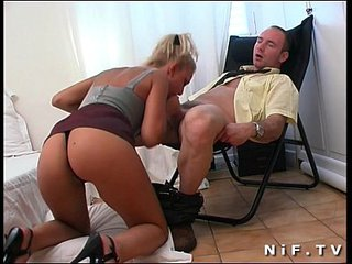 French spoil Delfynn Delage gets her ass hammered