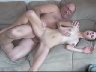 Skinny College Bitch with Big Tits Hot Sex with Old Man Sex Tubes