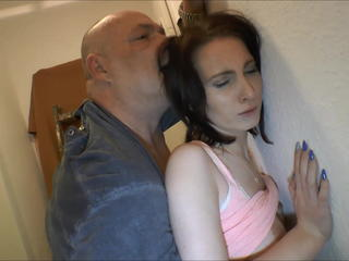 Sexy brunette Teen getting fucked by bald Guy. Sex Tubes