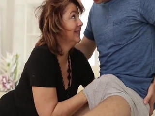 Family Handjob Mature Mom Old and Young