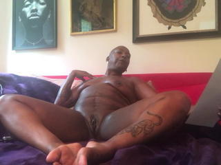 Ebony Homemade Masturbating Mature