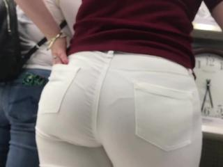 Italian fat ass white jeans Coitus Tubes