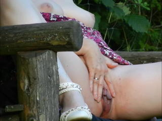 Marina Masturbating overhead a Forest Bench Sex Tubes