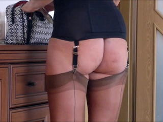 Ass Corset Mature Stockings