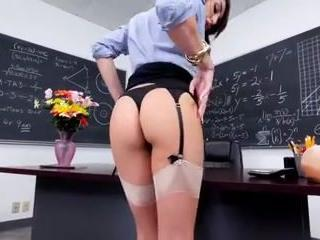 Amazing Ass  School Stockings Teacher