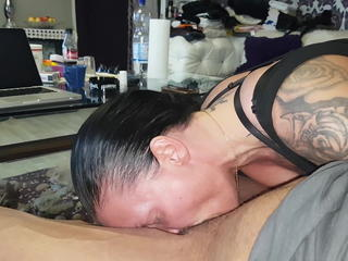 Amateur Blowjob Deepthroat Tattoo Wife