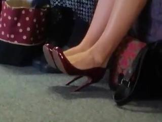 Black Dress Burgandy Heels