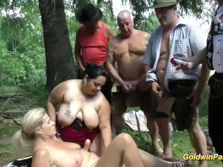 german outdoor orgy with bbw girls Sex Tubes