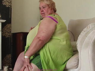 Morbidly Obese Granny strips for us