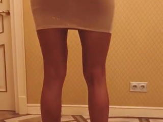 Hot girl in very short dress and high heels (long legs)