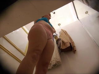 Dressing room, blonde with plump ass