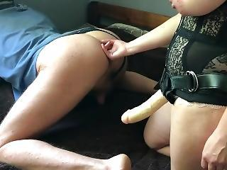 Ass Licking Mistress Wife Pegging Bisexual Cuckold Husband Share Cum