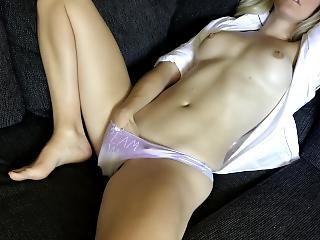 Home Alone Fro Only My Babble To Help Me Orgasm - Solely Female Masturbation