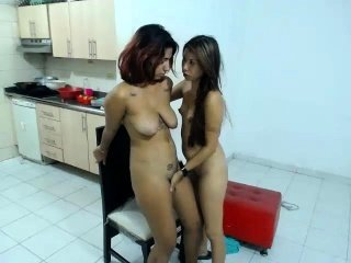 Daughter Family Kitchen Lesbian  Mom Old and Young  Teen