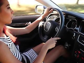 Sexy Paula Shy Loves Driving Her Audi Rs5 Sports Car Naked