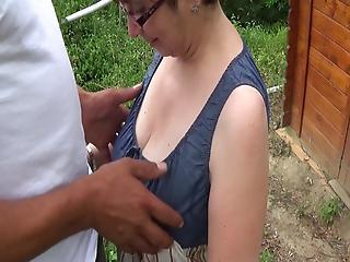 Big Tits Mature Outdoor Wife
