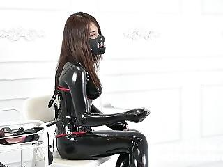 Latex Catsuit Mistress Femdom The Heavey Rubber Salve Blowjob Fx-tube Com