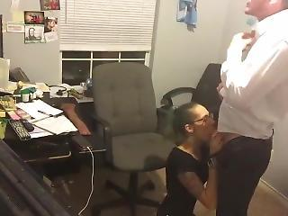 Sexy Girl In Office Has Sexual relations With Nabob To Keep Her Job.