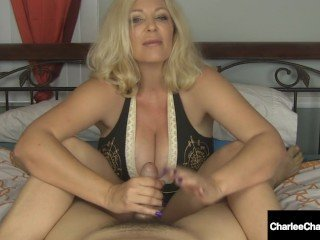 Busty Handjob Hottie Charlee Chase Jacks You Off & Milks Your Hard Cock!