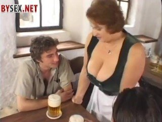 bbw, beer, and sex in the bar