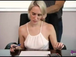 Daddy force fucks innocent daughter while she tries to study
