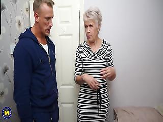 Granny Gets Amazing Sex With Dauntless Young Boy
